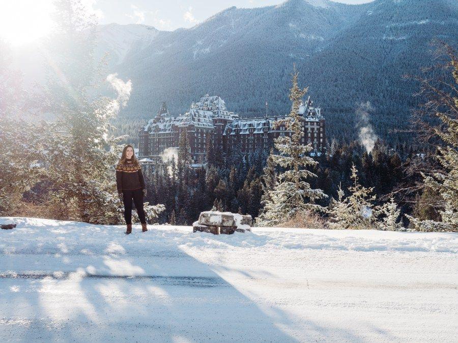 Winter Hiking at Banff's Surprise Corner Winter hiking