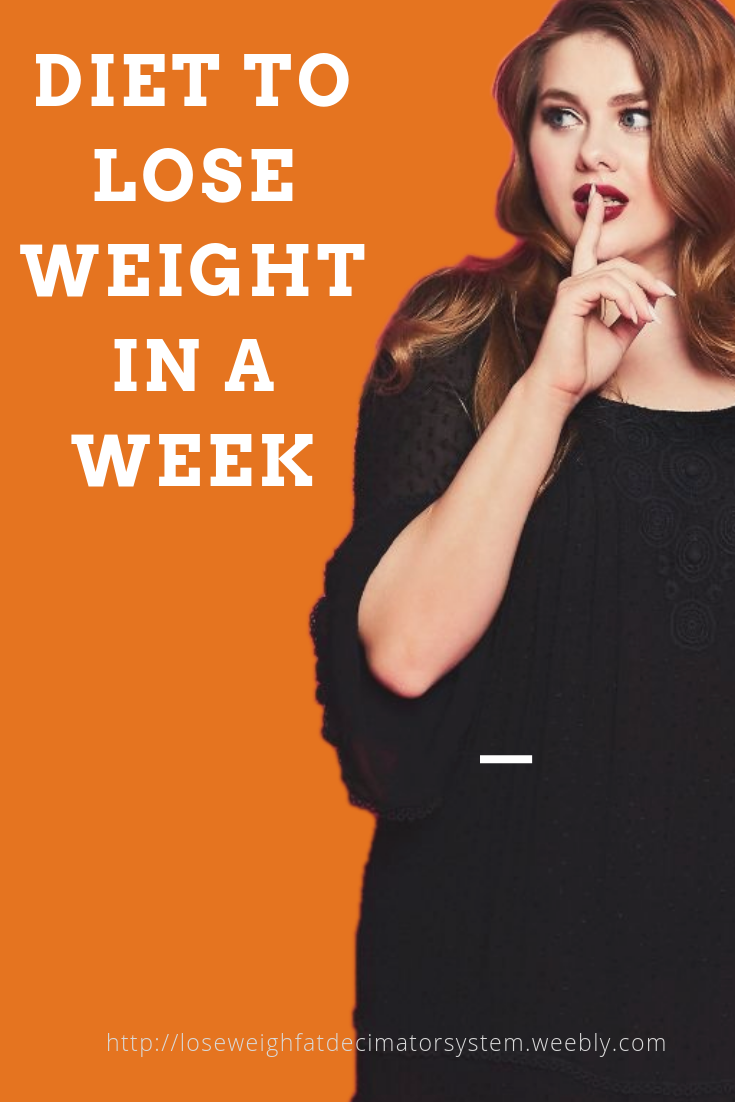 Sometimes you may need to lose a lot of weight quickly. Here is ... You can lose several pounds by f...