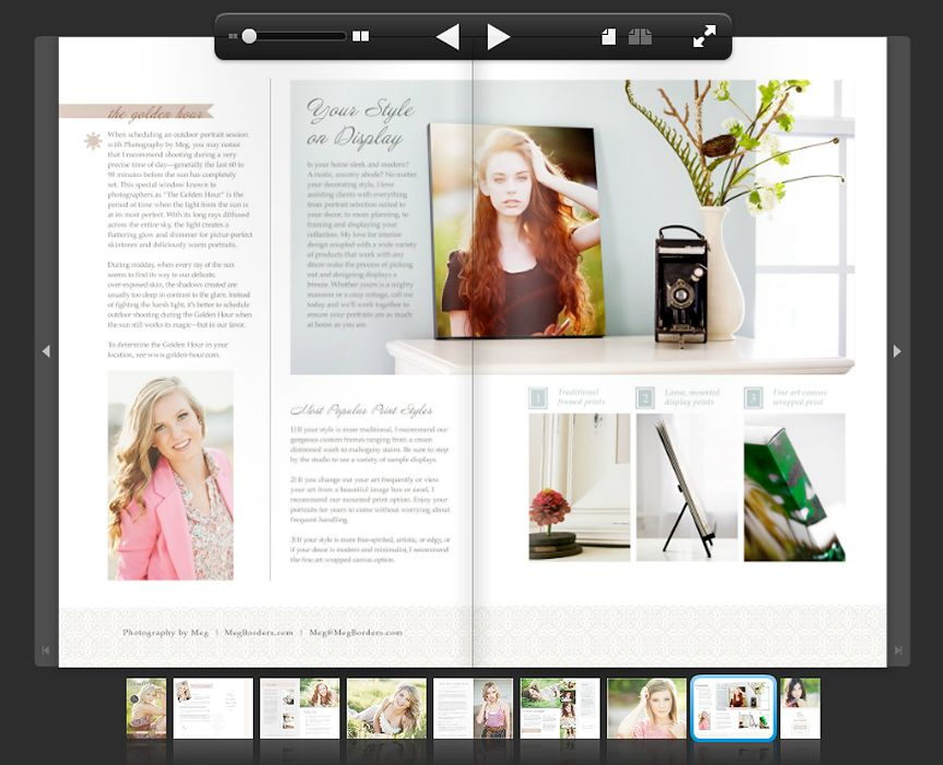 create a senior magazine with two of our top products Magazines