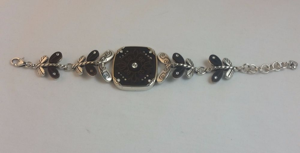 Brighton Flower Bracelet With Crystals 6 1 2 To 8 Adjule Chain