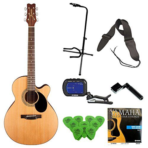 Jasmine S34c Nex Acoustic Guitar With Deluxe Guitar Accessory Bundle Click Image For More Details It Is Amazon Affil Guitar Accessories Guitar Cool Guitar