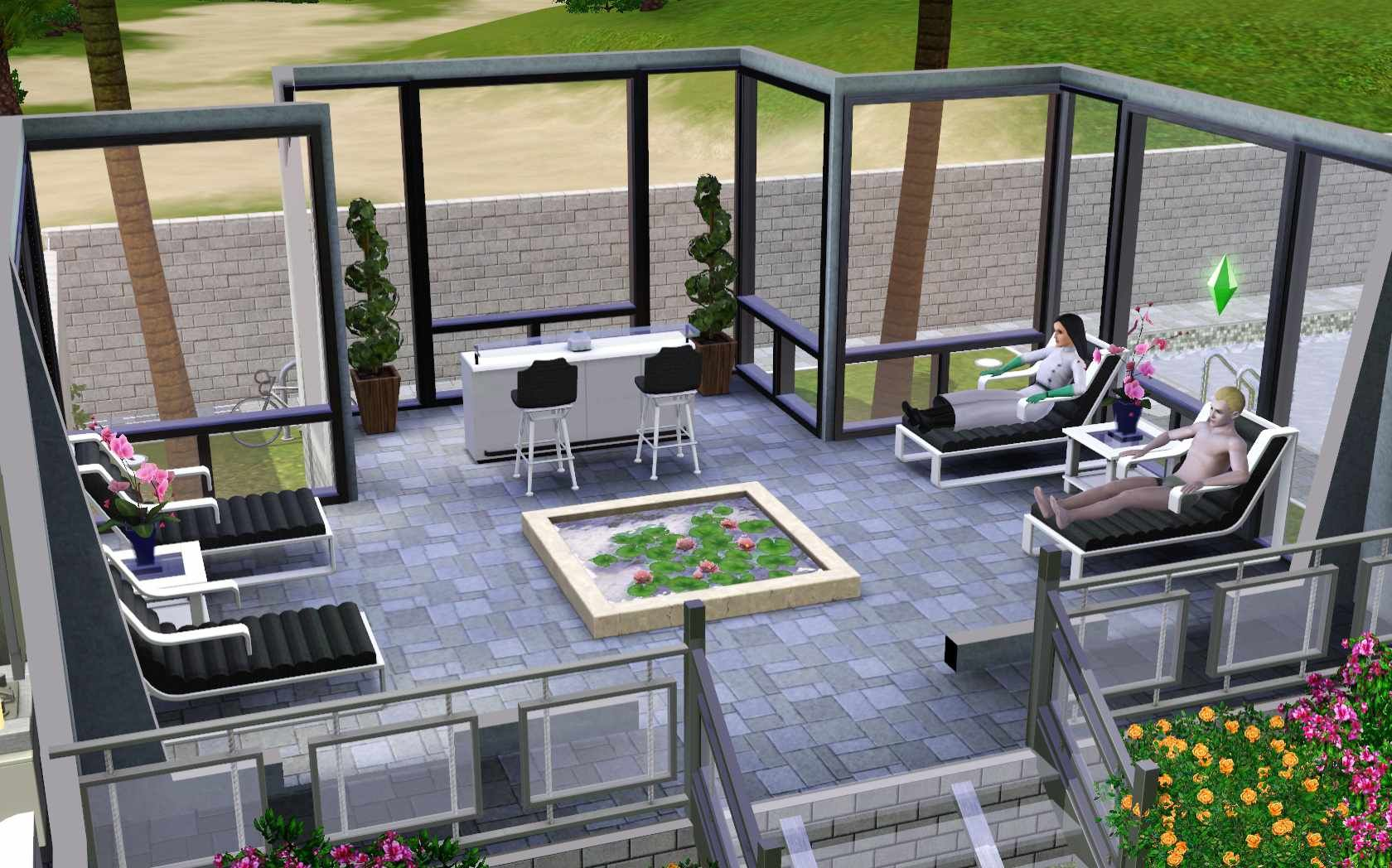 The sims 3 home building and design video game designs for Sims 3 garden design ideas