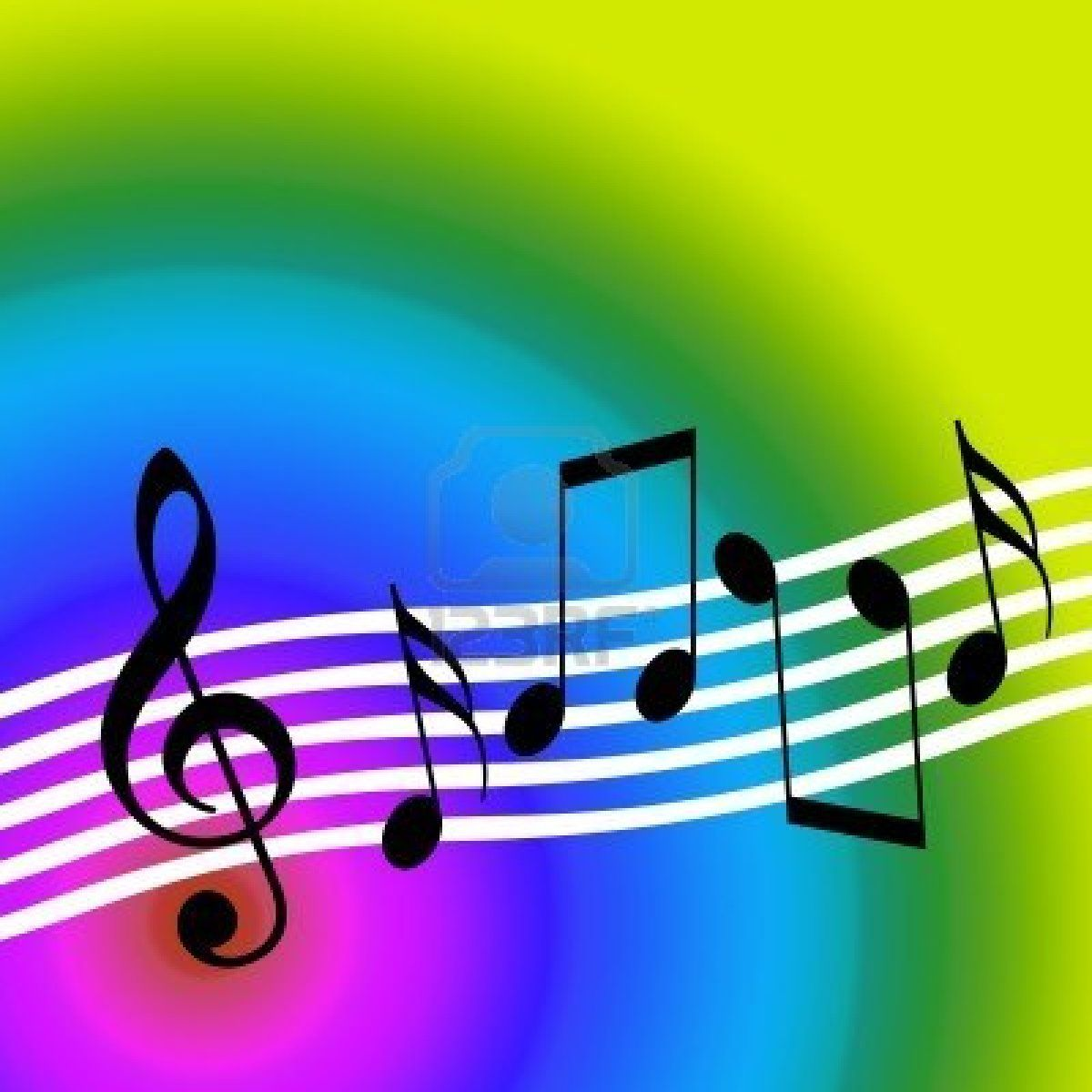 music symbols colorful music musical symbols over bright
