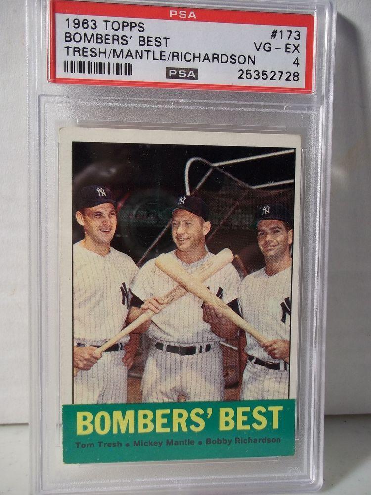 1963 topps mickey mantle psa vgex 4 baseball card 173