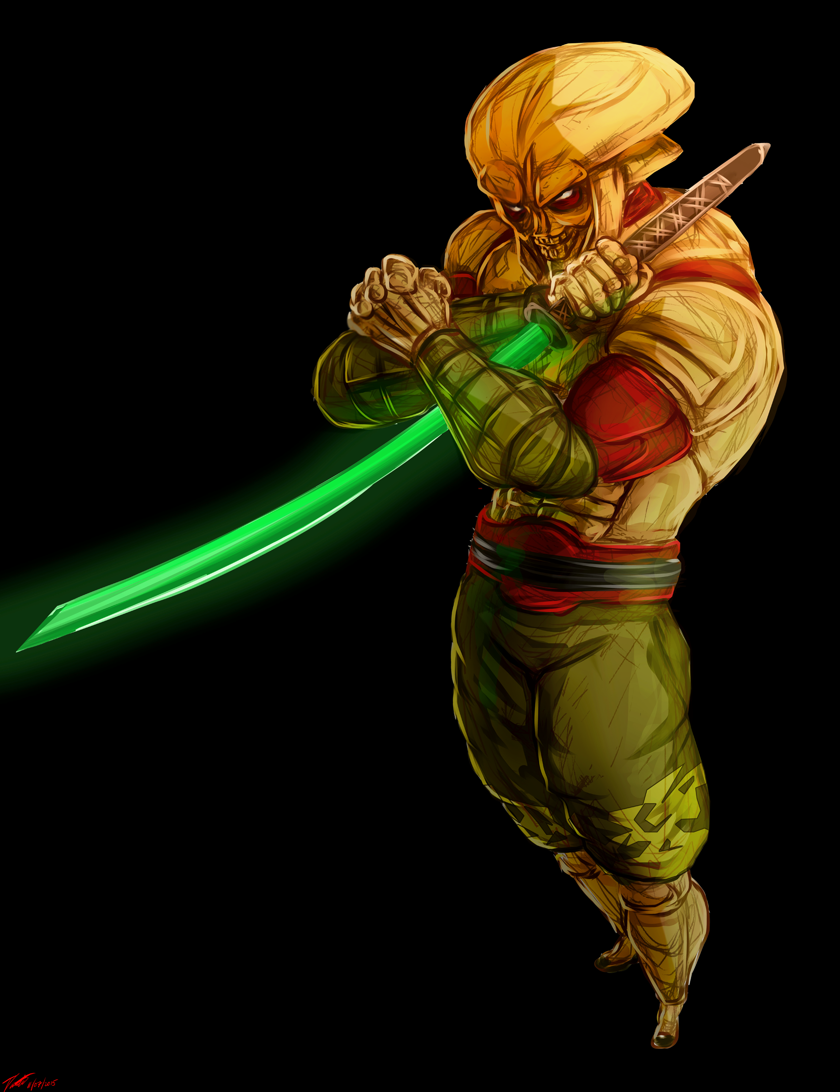 A Digital Sketch Painting I Made Of Yoshimitsu In His Tekken 3 Guise Gaming Posters Poster Prints Art Of Fighting