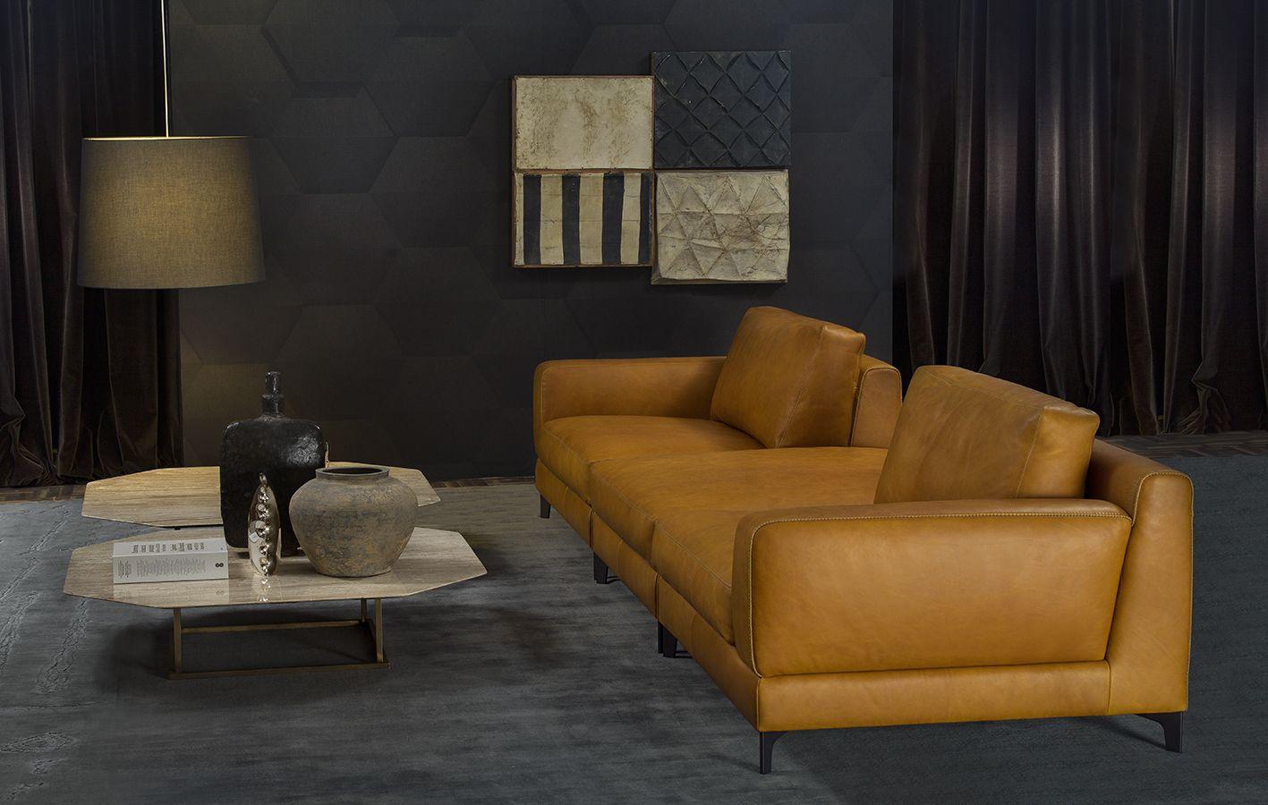 BEN Sofa By BORZALINO   Leather With Metal Feet   #furniture #sofa #chair