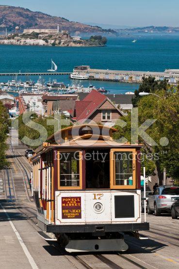 San Francisco Bay Historic Cable Car Steep Streets Alcatraz California San Francisco Cable Car San Francisco Travel Places To Visit