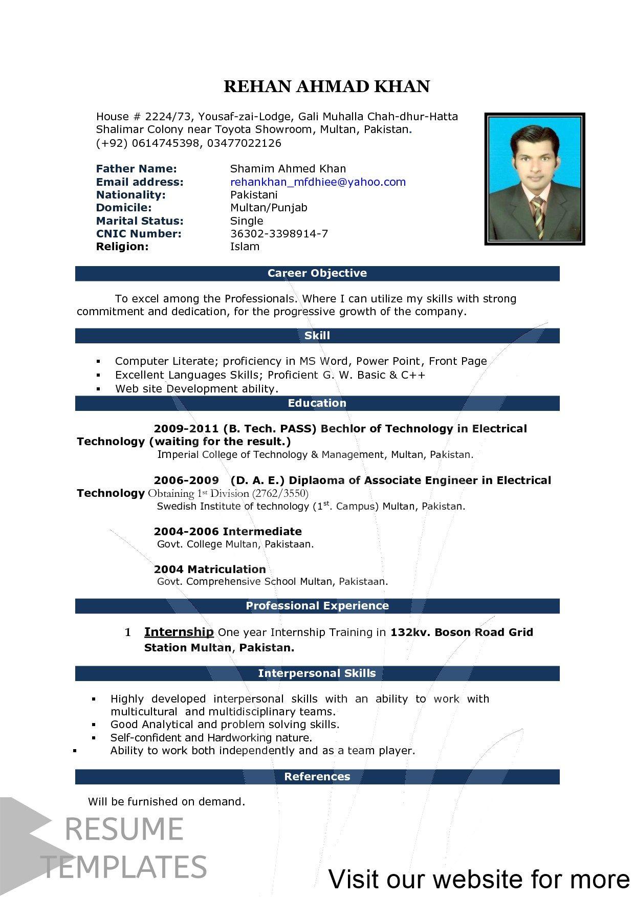 Resume Template Creator Professional In 2020 Resume Template