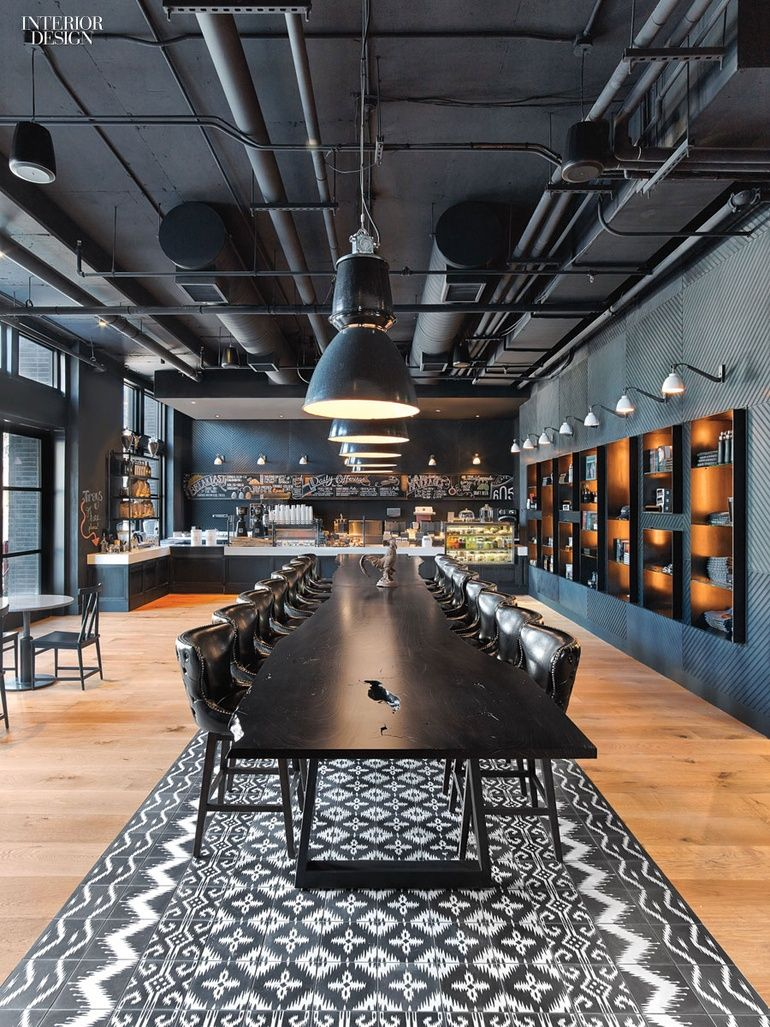 Mark Zeff Riffs on Austin's Musical Heritage at the Hotel Van Zandt is part of Office interior design - The hotel name appears stenciled on the entry's whiteoak floor Photography by Eric Laignel
