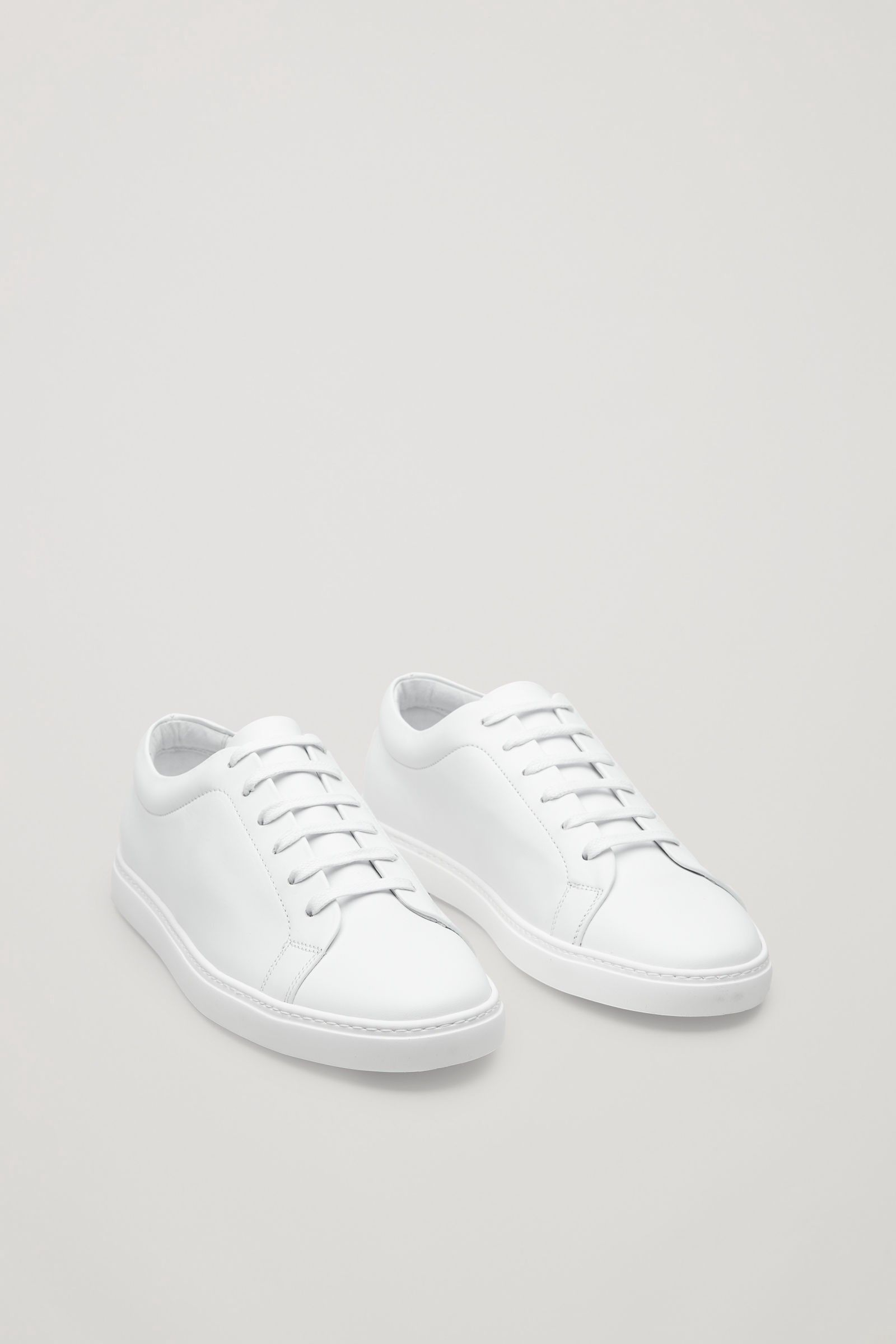 7bfa5c5abc0 Slim-sole lace-up sneakers - white(OUT OF STOCK) by COS