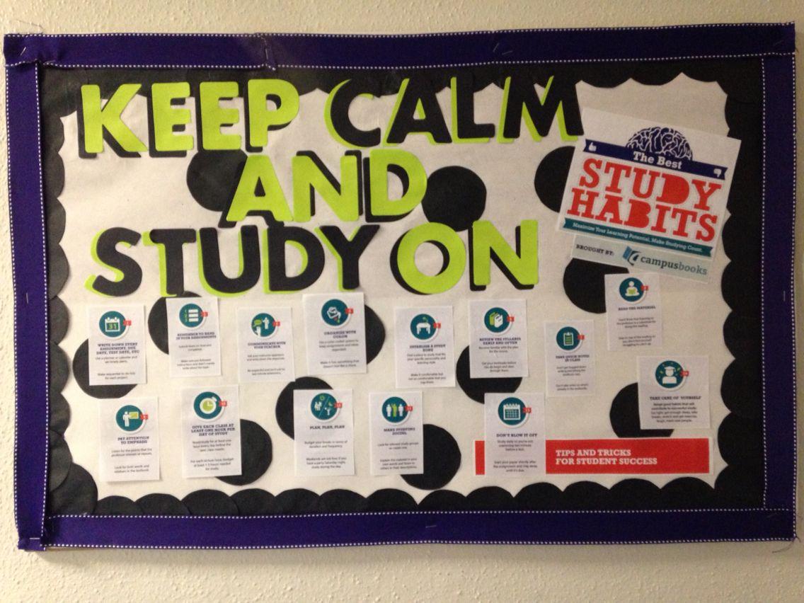 Study Habits Skills Bulletin Board Ra Life