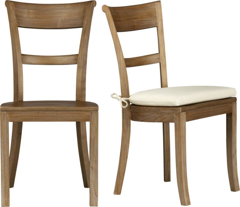 Kipling Grey Wash Side Chair and Ivory Cushion in Dining
