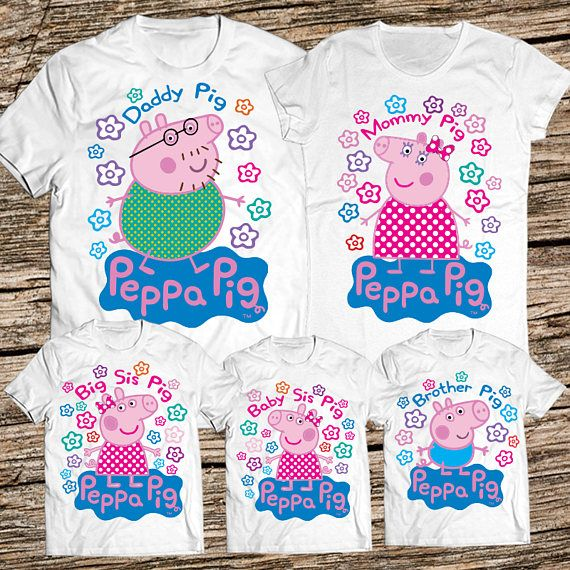 Peppa Pig Family Shirts Daddy Shirt Birthday Mommy And Me