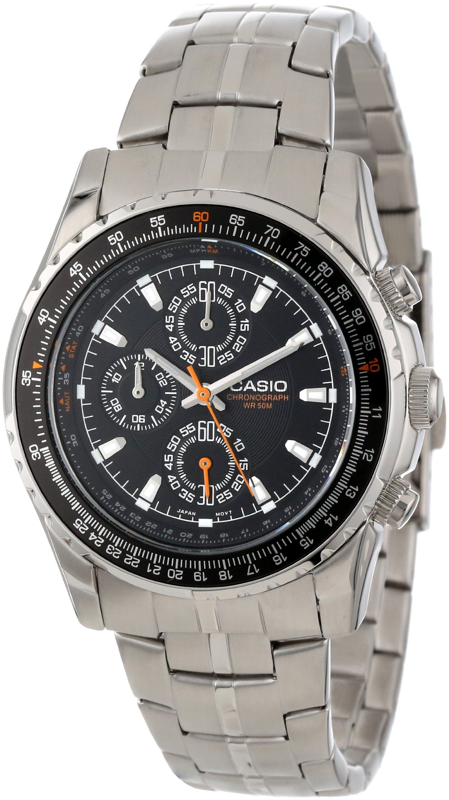 b748e0235 Nice-looking and functional at a low price. Amazon.com: Casio Men's  MTP4500D-1AV Slide Rule Bezel Analog Chronograph Aviator Watch: Casio:  Watches
