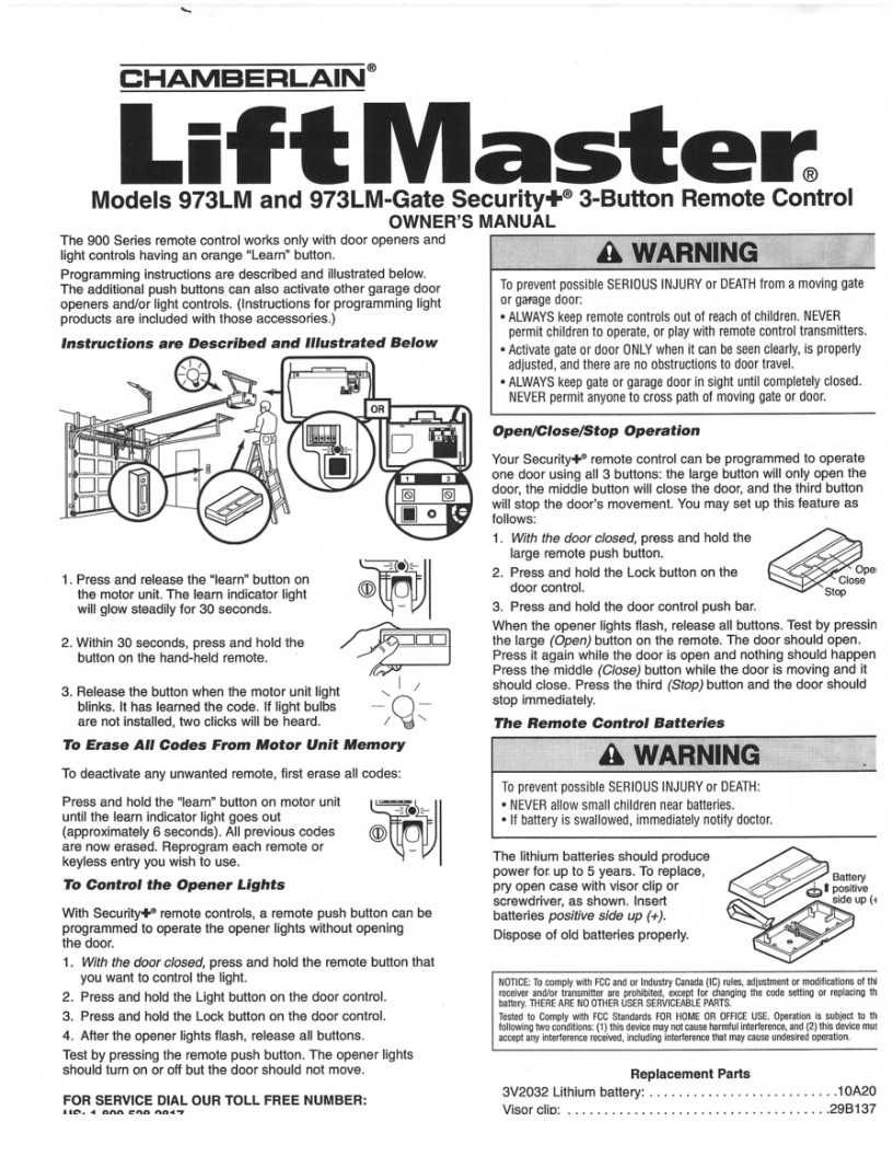 Unique Liftmaster Keyless Entry Manual