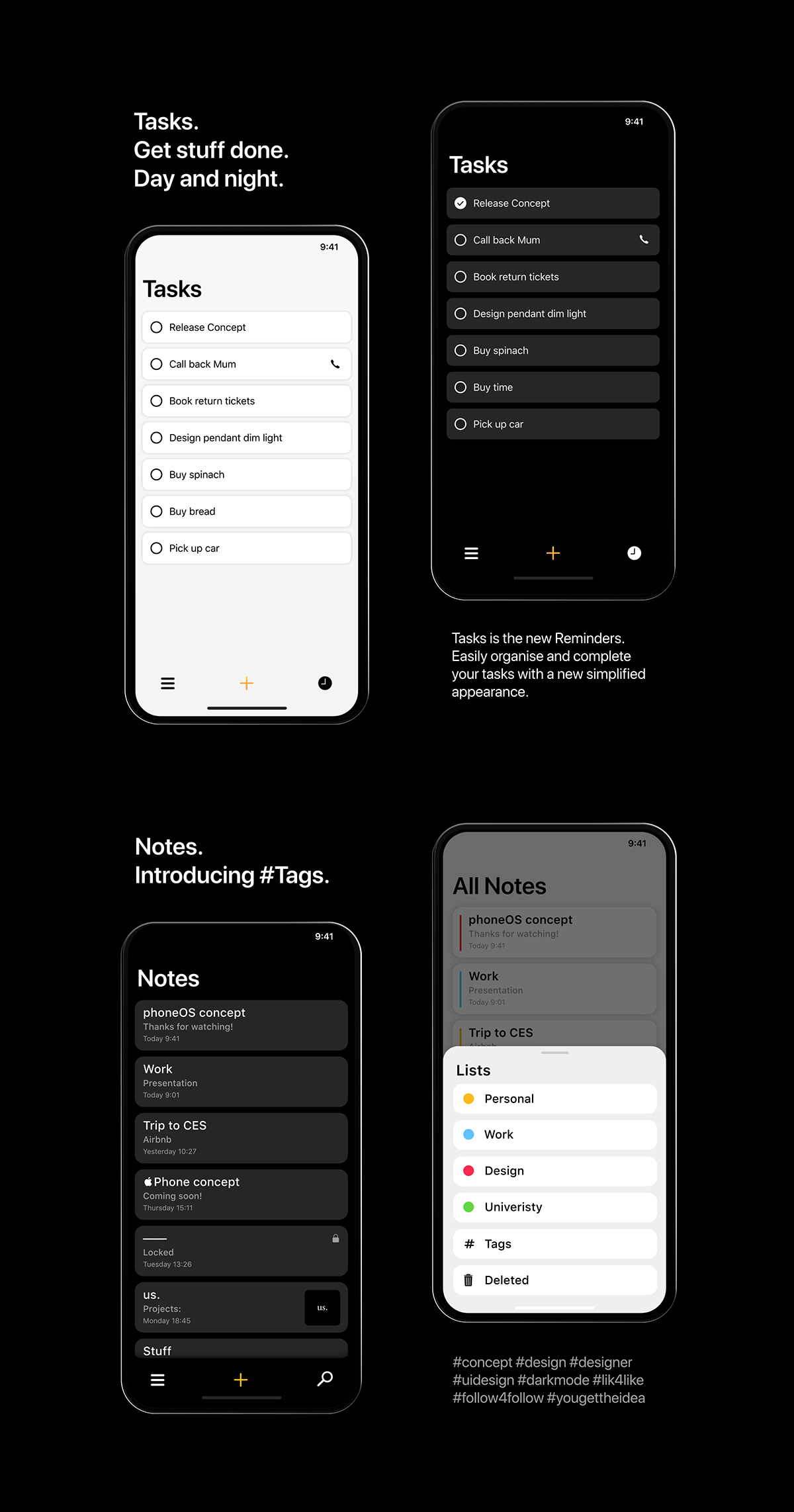 iOS 13 / phoneOS on Behance in 2020 App design layout