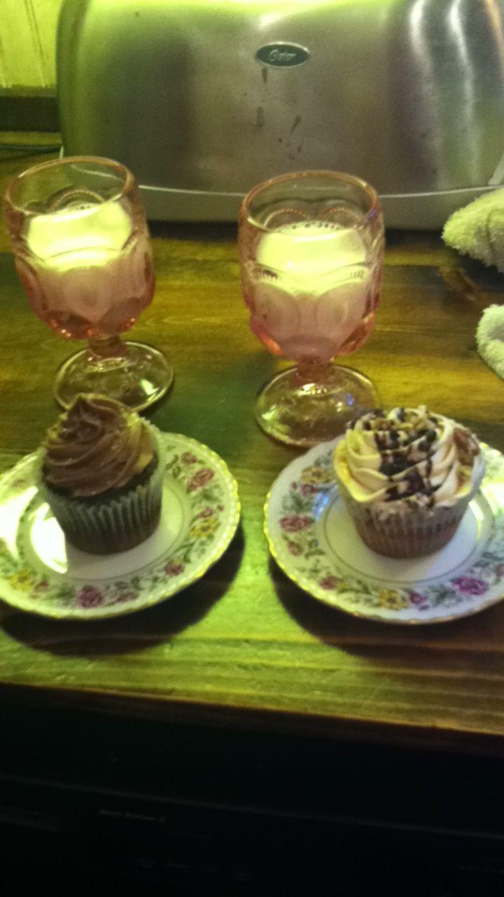 Salted chocolate cupcake and chocolate chip cookie cupcake.