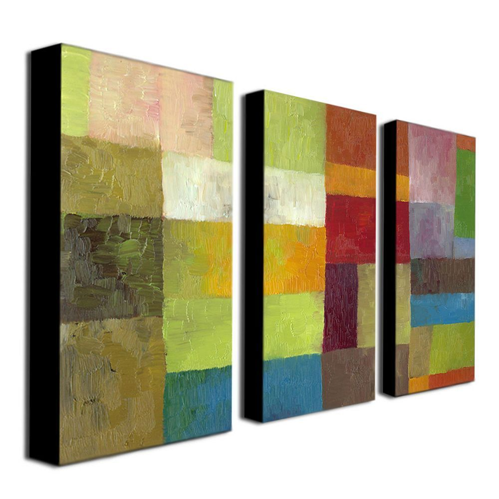 3-pc. \'\'Abstract Color Panels Iv\'\' Wall Art Set, Multicolor