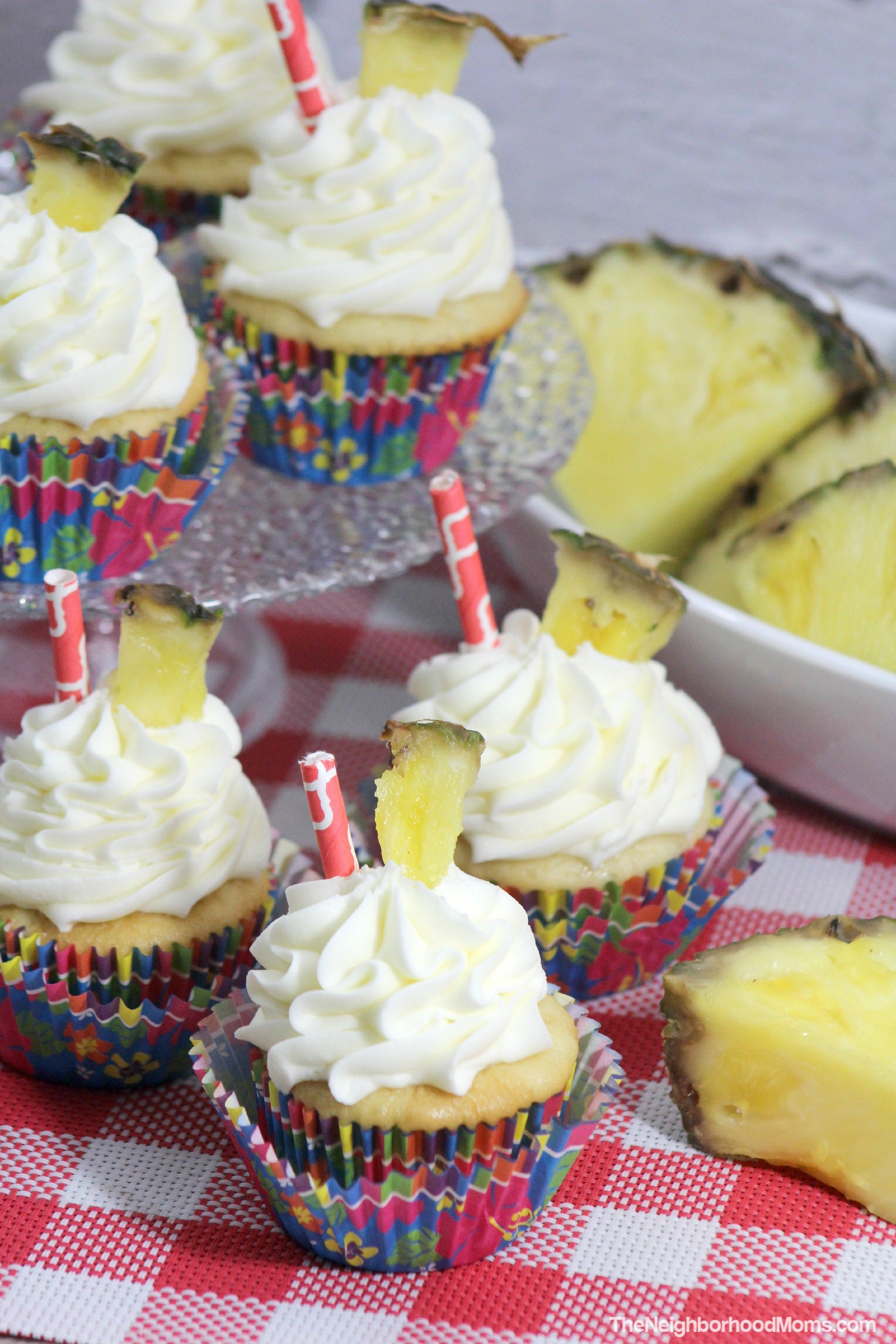 Pineapple Dole Whip CupcakesPineapple Cupcakes