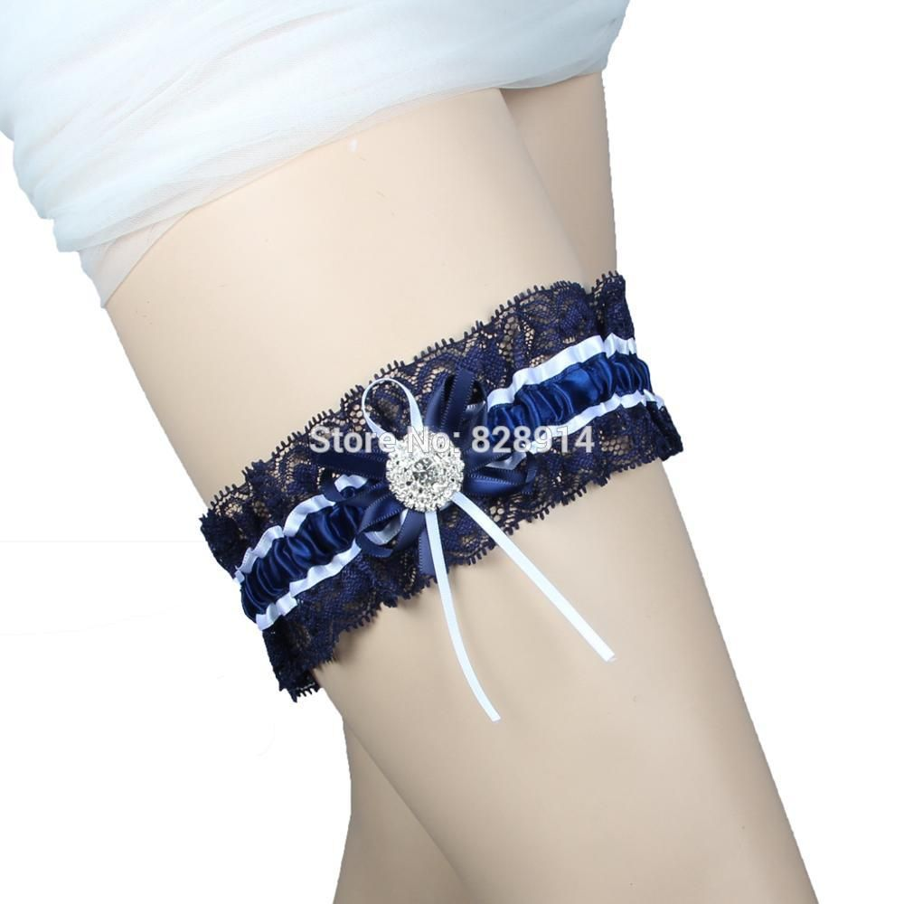 Find More Garters Information About Vintage Navy Blue Lace