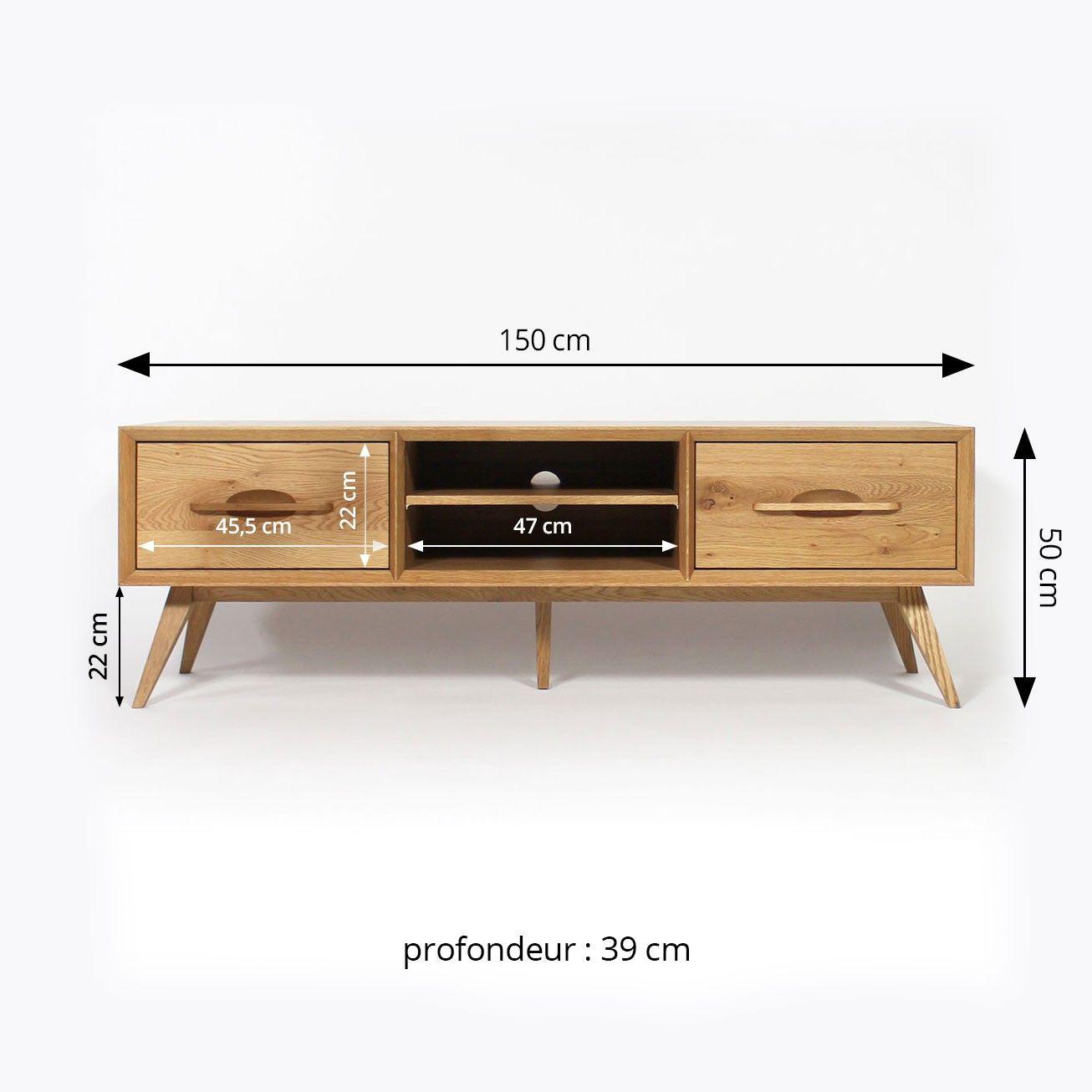 meuble tv bois massif moderne et