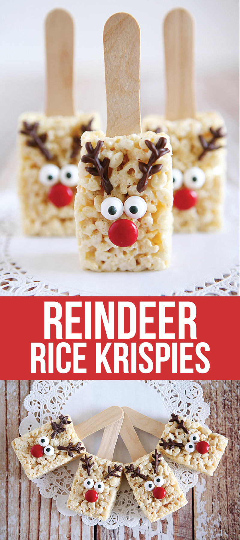 Reindeer rice krispie treats rice krispies rice and recipes for How do you make rice crispy treats