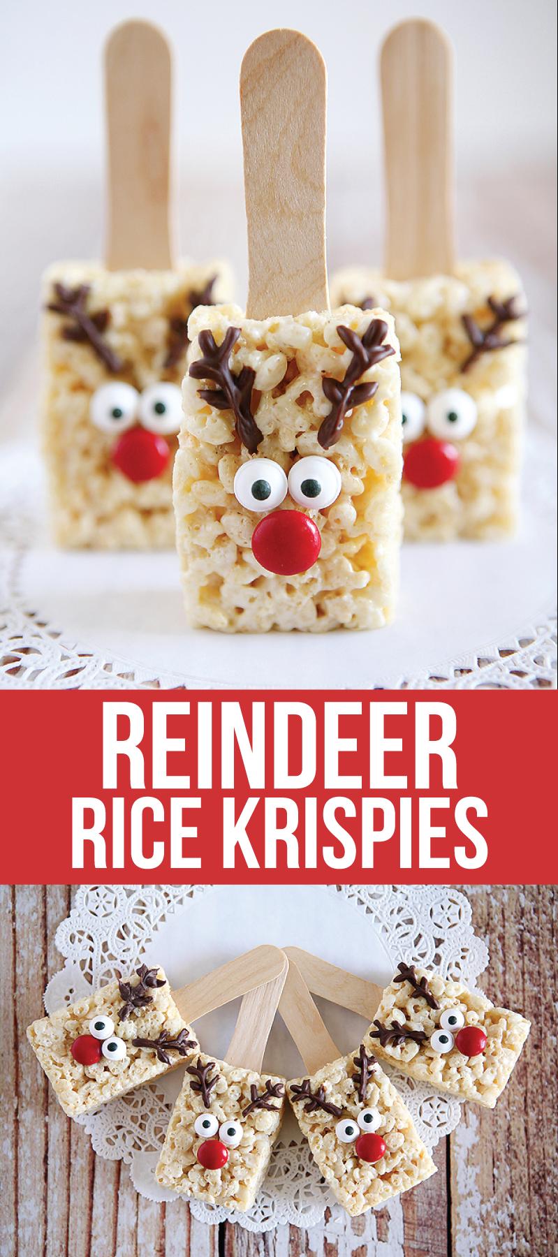 Reindeer rice krispie treats rice krispies rice and recipes christmas desserts forumfinder Choice Image