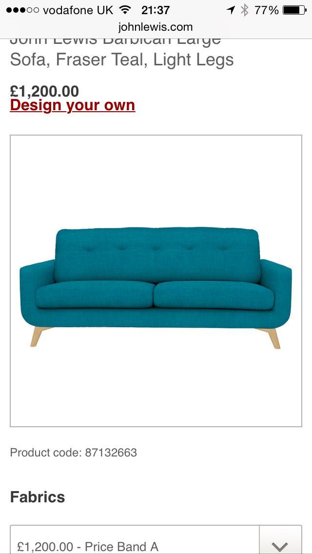 John Lewis Barbican Fraser Teal Sofa Design Your Own Design