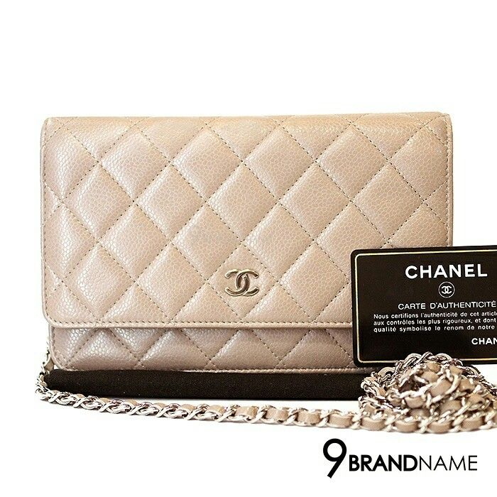 49f7ec299bec Chanel Wallet On Chain DarkBeige Caviar SHW - Authentic Bag กระเป๋า ชาแนล  วอล