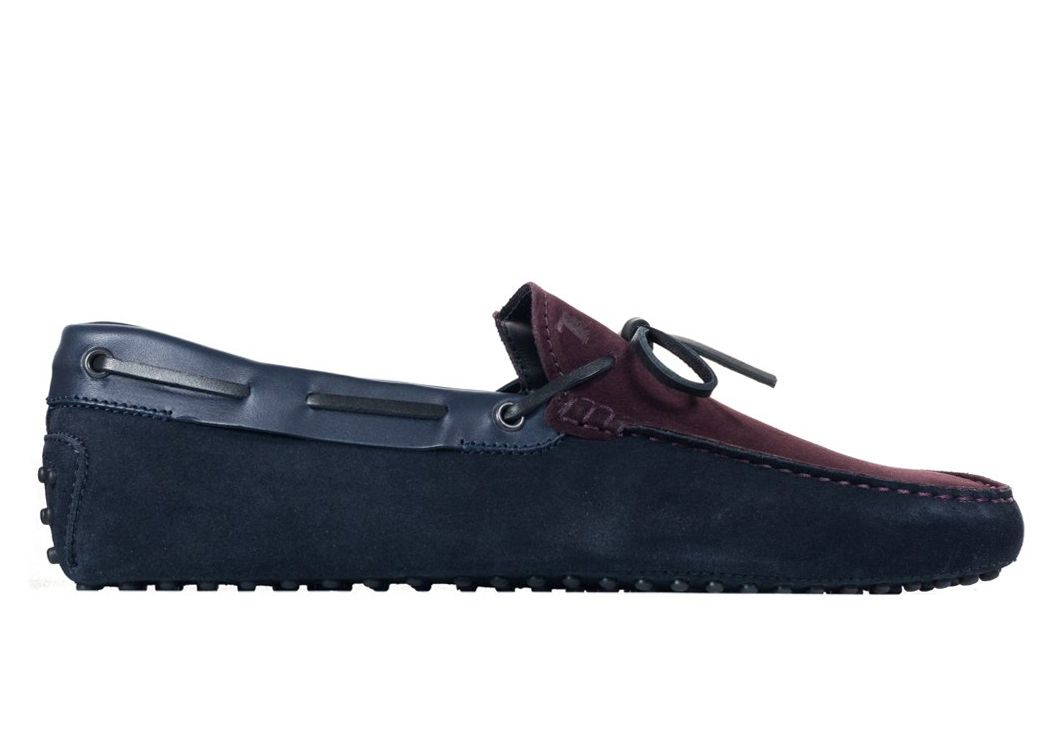 d313d9f73ab TOD S TODS MENS NAVY COLOR BLOCK SUEDE SELF TIE DRIVER LOAFERS.  tods  shoes