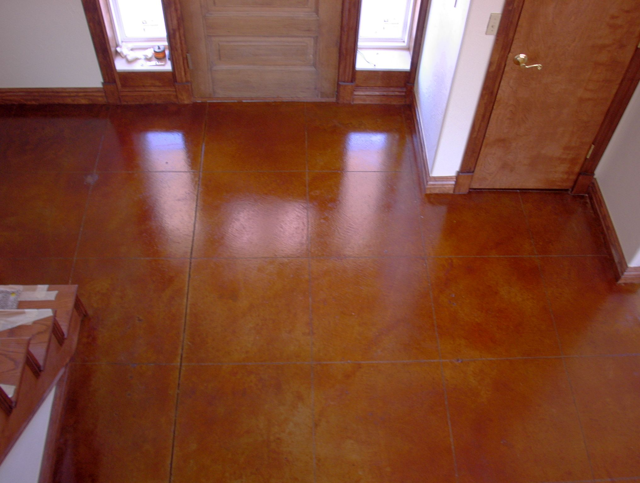 Another picture of gorgeous acid washed cement floor for Acid wash concrete floors