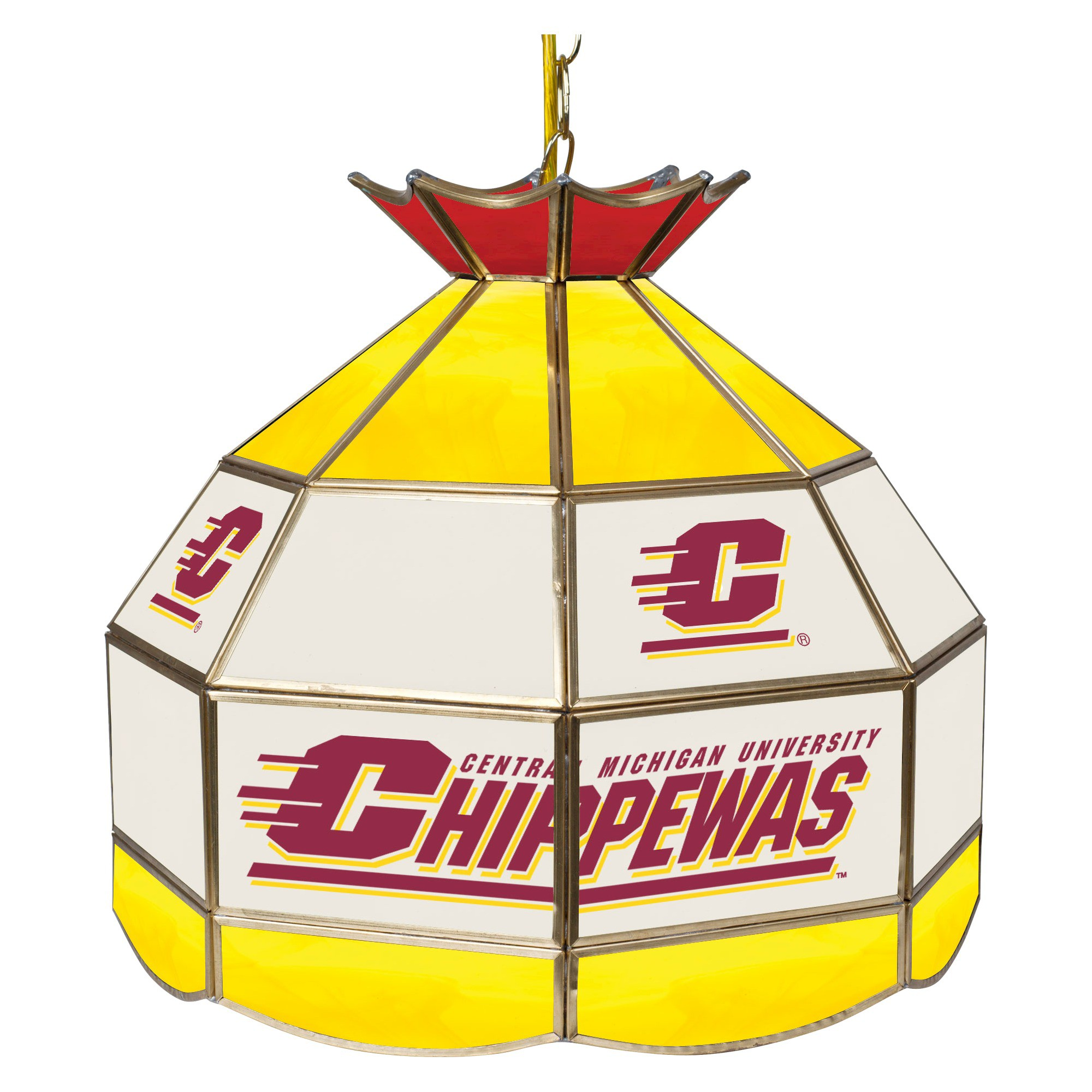 Best Ncaa Central Michigan Chippewas Stained Glass Tiffany Lamp 400 x 300