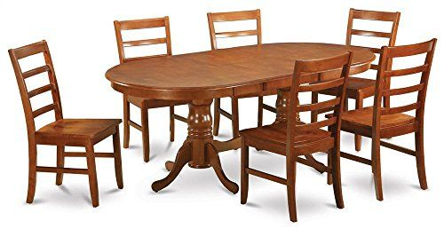 Double Pedestal Dining Table with 6 Chairs small home Pinterest