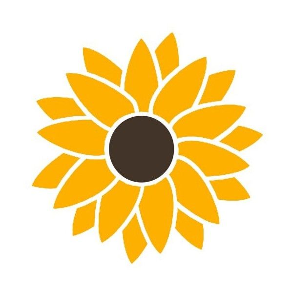 7e8b6529a 2 Color Sunflower Hippie Flower Power Vinyl Sticker Decal LilBitOLove  ($5.69) via Polyvore featuring home, home decor, hippie home decor, vinyl  home decor ...