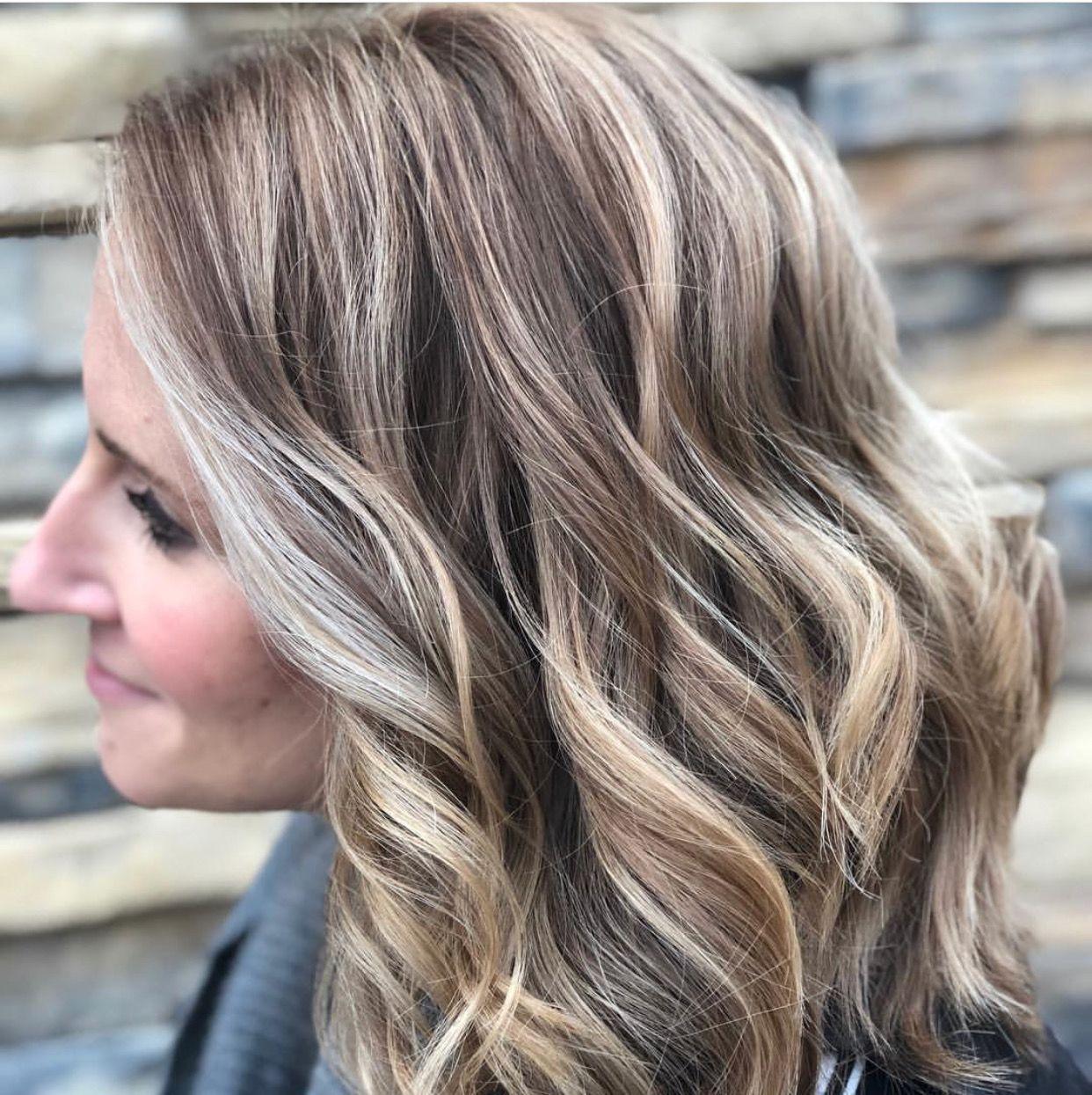 Ash Blonde Hair Beach Waves Boho Style Highlights And Lowlights