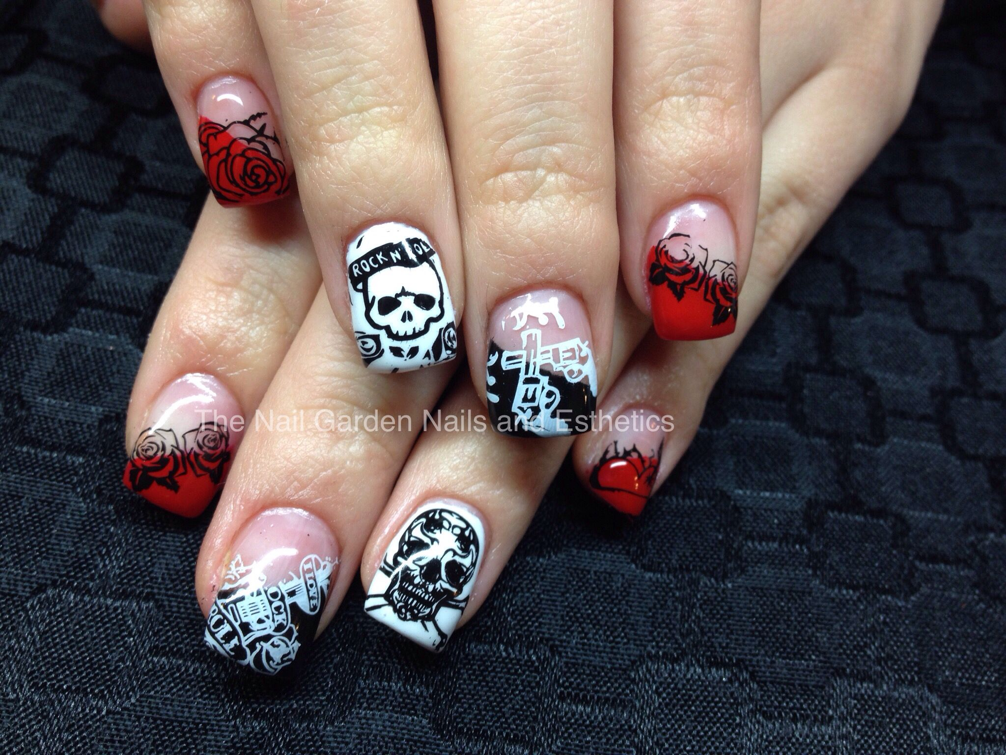 Ed Hardy inspired nails | ネイル | Pinterest