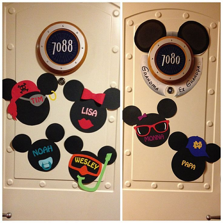 Disney Cruise Door Magnets Would Be Cute With Police Hat