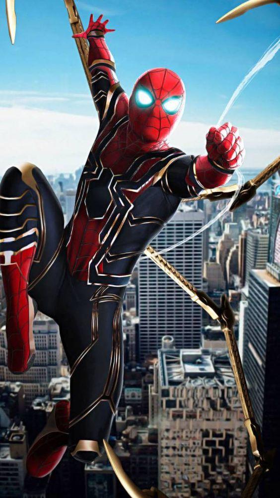Spiderman Marvel Spiderverse Iphonewallpaper Mcu Avengers Hombre Araña Comic Superhéroes Marvel Hombre Araña Animado