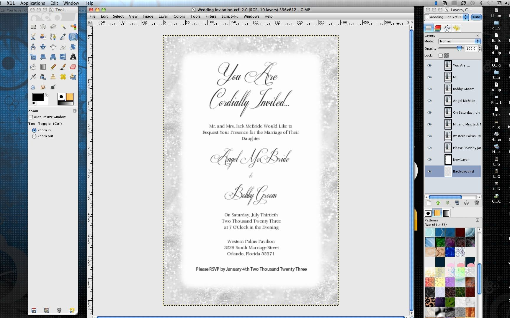 how to make professional wedding invitations in gimp moh ideas