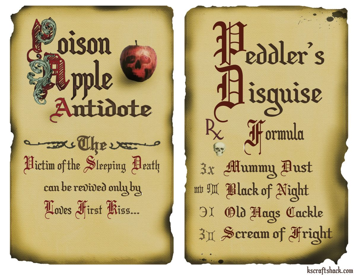 Disney Inspired Antitode And Peddler Spells Two Page