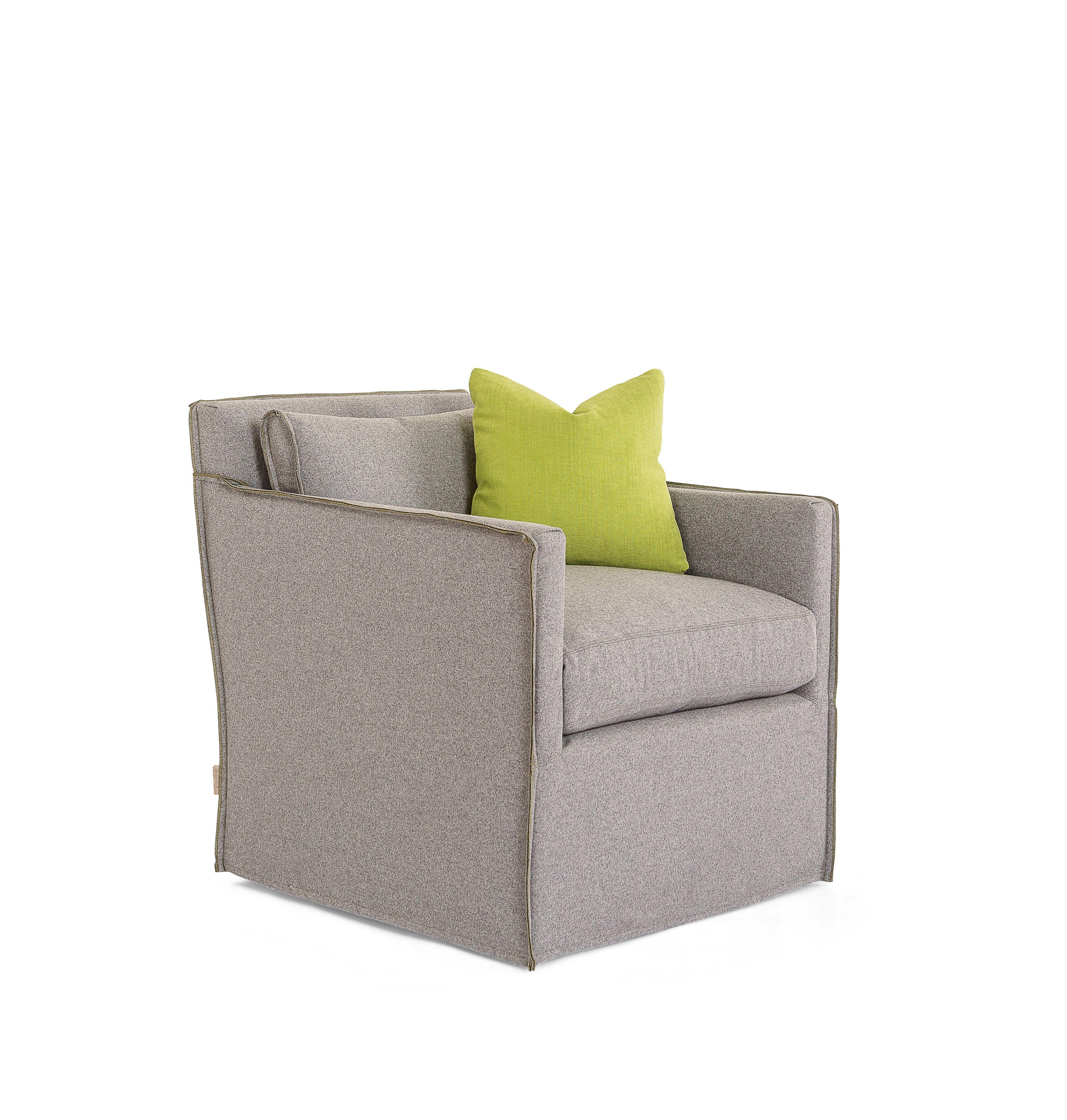 Jan Swivel Chair In Buzzi Felt From Verellen Upholstered Swivel