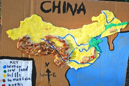 3d Salt Dough Maps For Kids Maps For Kids China Crafts Map Projects
