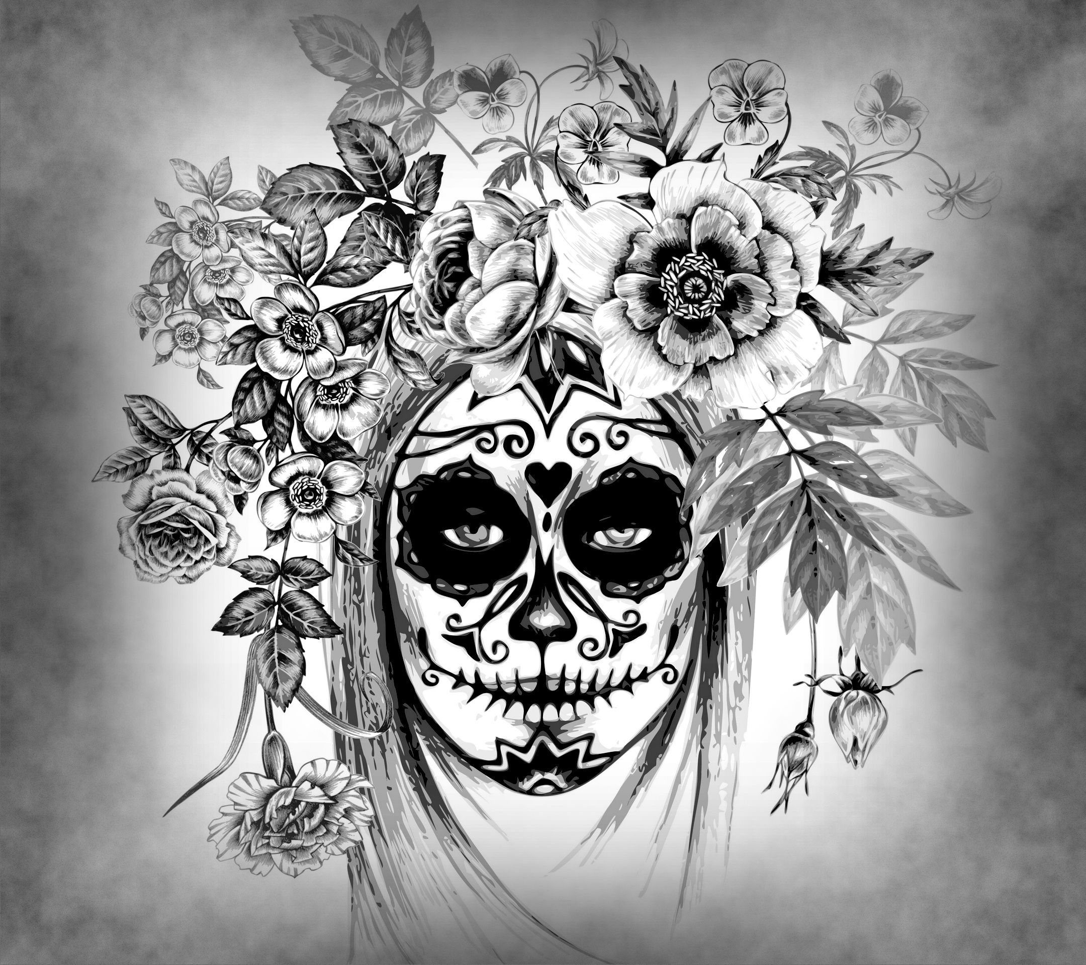 Pin by Dark Desires on Skulls! Day of the dead, Drawings