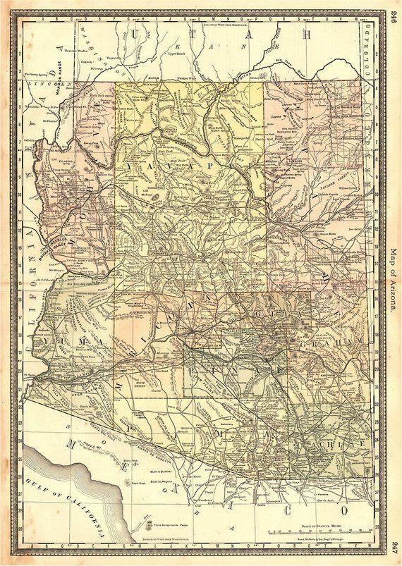 Highway 11 Arizona Map.Arizona Map 1883 Scanned Version Of Old Original Map Of The