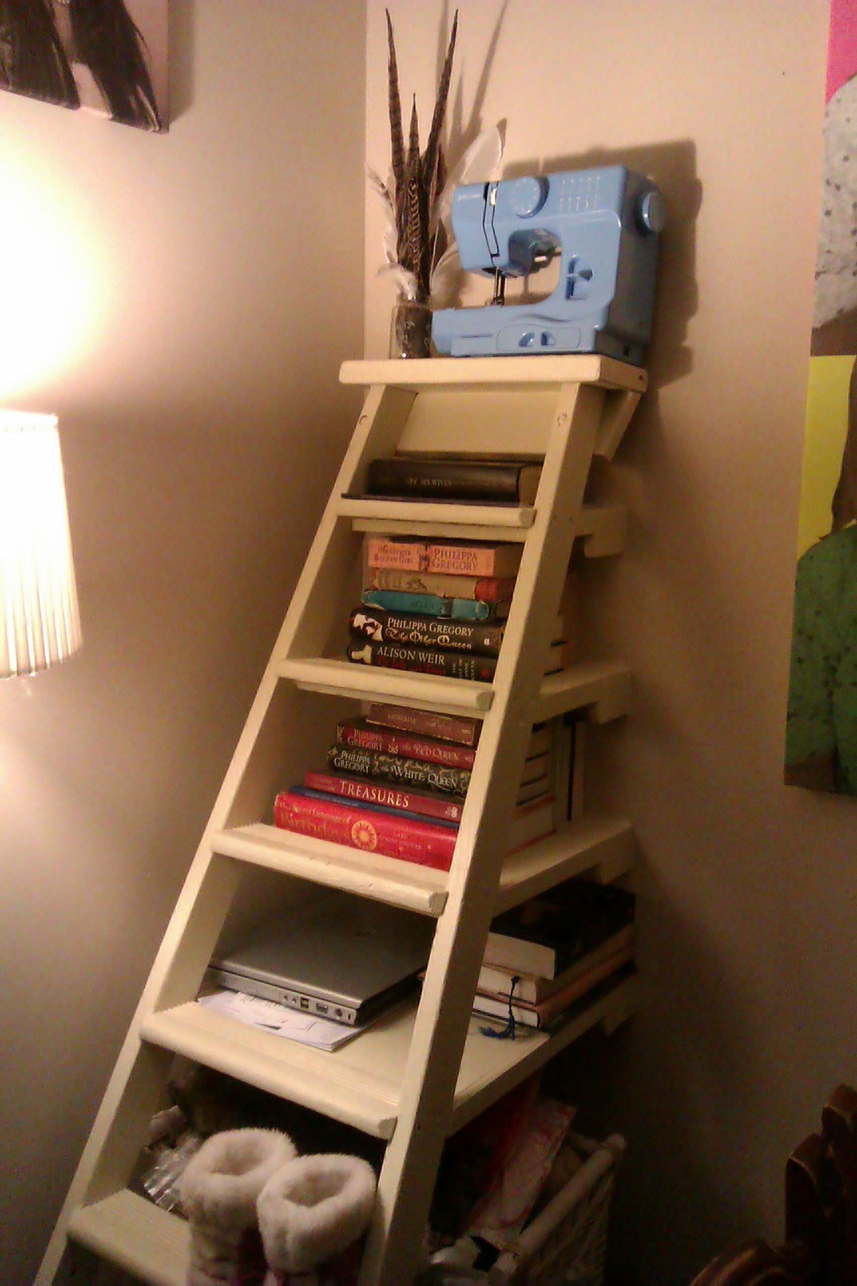 My uupcycledu ladder bookshelf this ladder came from the site my