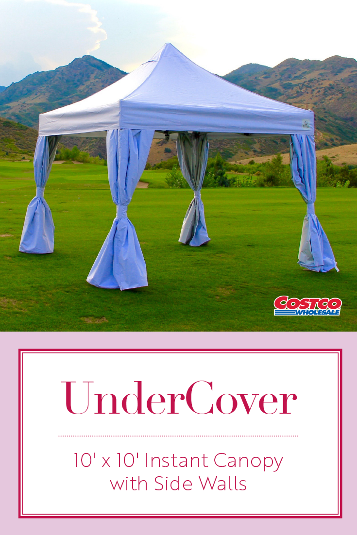UnderCover® 10u0027x 10u0027 Instant Canopy features a hybrid solid-core steel frame 600-D polyester vented top clip-on CRS curtain-walls peak-pole extender ...  sc 1 st  Pinterest & UnderCover® 10u0027x 10u0027 Instant Canopy features a hybrid solid-core ...