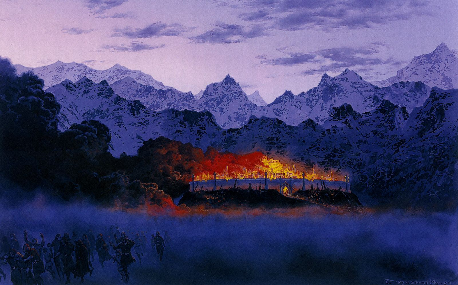 The Fall of Gondolin by Ted Nasmith