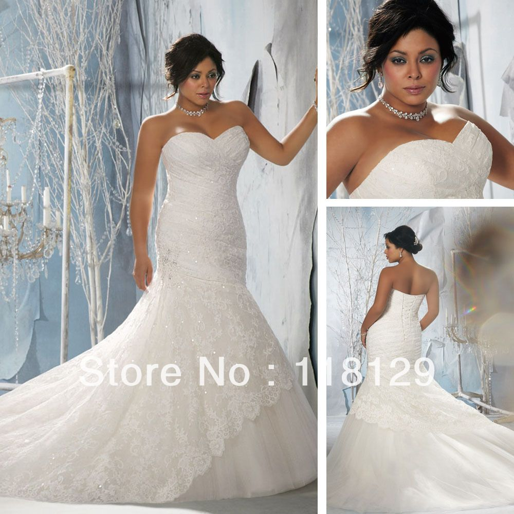 2013 gorgeous sweetheart white lace beaded full length