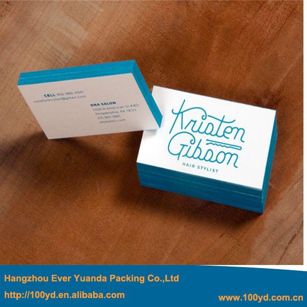 New Beauty Design Blue Edge Business Cards Printing Embossing Letterpress Special Paper Vi Visitenkarten Visitenkarten Selbst Drucken Hochwertige Visitenkarten