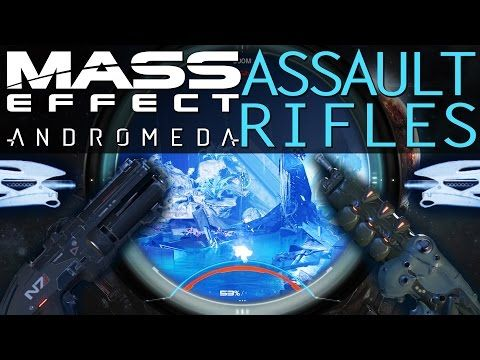 BEST ASSAULT RIFLES WITH AUGMENTS \ MODS IN MASS EFFECT ANDROMEDA - best of level 3 blueprint vendor alliance
